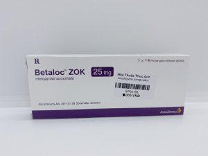 Betaloc zok 25mg- Tăng huyết áp, đau thắt ngực